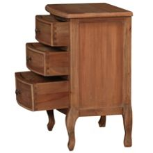 Linea Amelia 3 drawer bedside chest