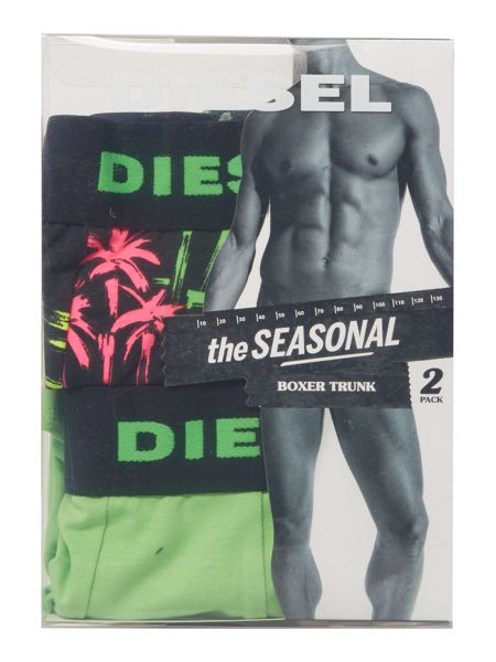 Diesel 2 pack palm tree print and solid trunk