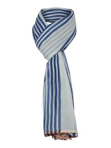 Barbour Sealand blue stripe scarf