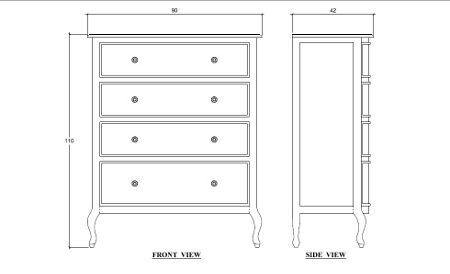 Linea Amelia 4 Drawer Chest
