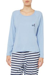 Pale blue raglan top