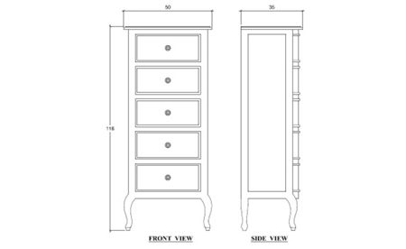 Linea Amelia 5 Drawer Tallboy