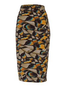 Label Lab Butterfly digi print midi skirt