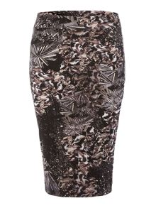 Label Lab Hannah digi print midi skirt