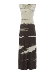 Crea Concept Printed jersey maxi dress