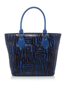 Turner blue embossed shopper