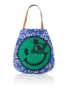 Vivienne Westwood Africa multi coloured smiley shopper