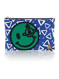 Africa multi coloured smiley clutch