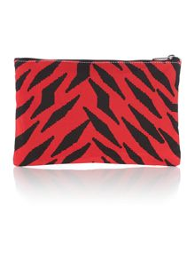 Vivienne Westwood Africa multi coloured tiger leopard clutch