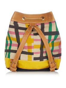 Vivienne Westwood Africa multi coloured tartan backpack