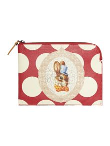 Vivienne Westwood Bunny multicoloured pouch clutch bag