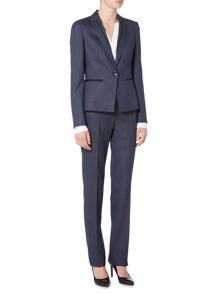 Hugo Boss Jinea Grosgrain Trim Suit Jacket