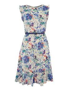 Therapy Faith Floral Print Belted Dress