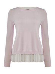 Marella Gel long sleeve jumper with chiffon layer