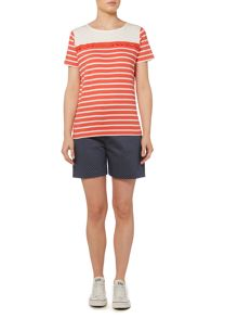 Dickins & Jones Stripe Broderie T-Shirt