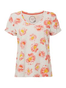 Dickins & Jones Peony Floral Print T-shirt
