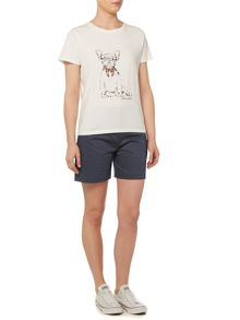 Dickins & Jones French Bulldog Print T-Shirt