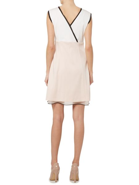 Marella Abele a-line rose embellished top dress