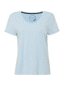 Dickins & Jones Irregular Spot Print T-Shirt