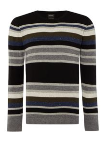Diesel K-calib crew neck stripe knitted jumper