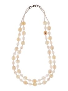 Cleo double layered beaded necklace