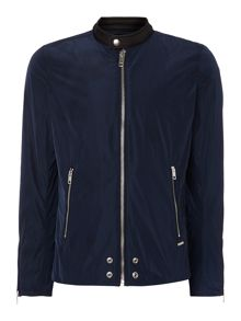 Diesel J-edg zip through harrington jacket