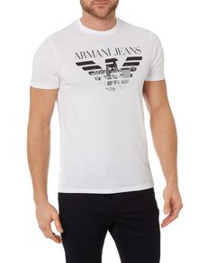 Armani Jeans Regular Fit Eagle City Graphic T Shirt