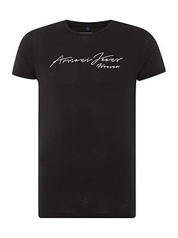 Men's Armani Jeans Regular Fit Script Text Logo