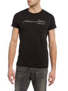 Armani Jeans Regular Fit Script Text Logo T Shirt