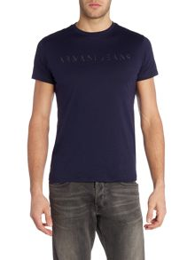 Armani Jeans Regular Fit Mirror Text T Shirt