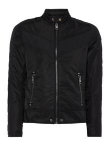 Diesel J-Red zip through biker jacket