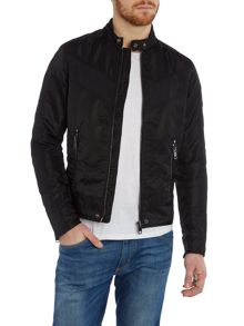 J-Red zip through biker jacket