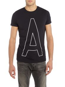 Armani Jeans Regular Fit A1 Large Graphic T Shirt