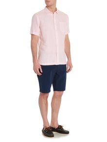 Howick Limehouse Short Sleeved Plain Linen Shirt
