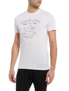 Armani Jeans Regular Fit Foil Graphic T Shirt