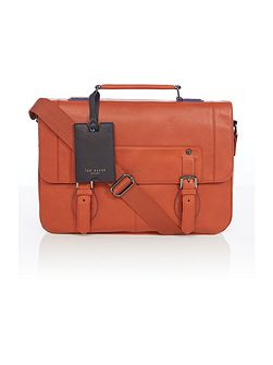 Contrast edge paint satchel