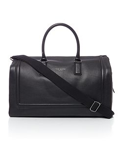 Raised edge leather holdall