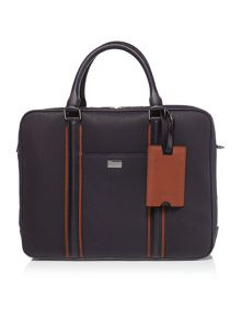 Ted Baker Canvas and leather document bag