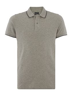 Men's Armani Jeans Regular Fit Pique Tipped Polo