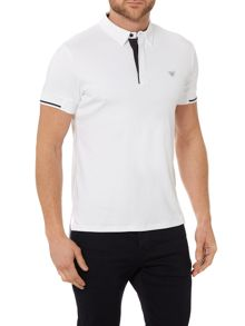 Armani Jeans Regular Fit Mercerised Tipped Sleeve Polo