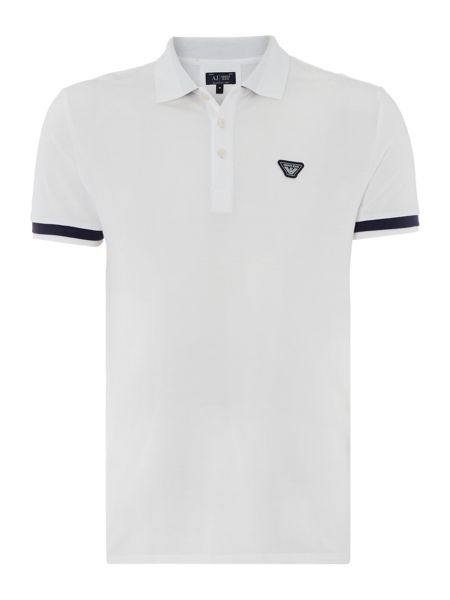 Armani Jeans Regular Fit Thick Tipped Sleeve Polo