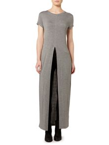 Gray & Willow Split front jersey long line top