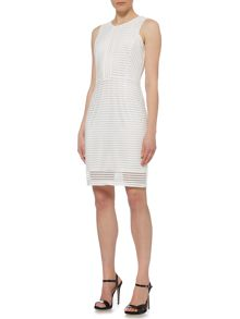 Pied a Terre Sleevless 3D Stripe Dress