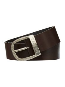 bawre logo belt with oval buckle