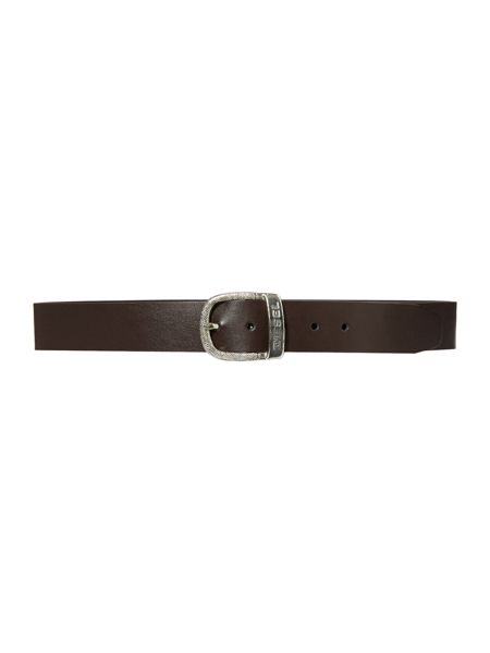 Diesel bawre logo belt with oval buckle
