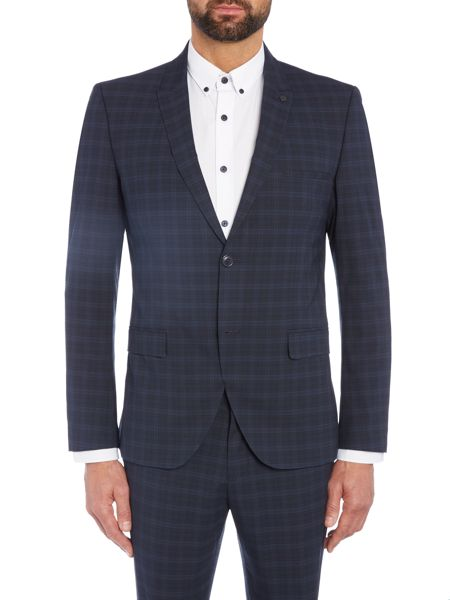 Selected Homme Trey Navy Check Blazer