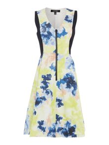 Ellen Tracy Printed fit and flare dress