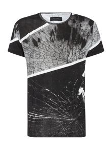 Regular fit block shatter print t shirt