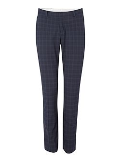Trey Navy Check Trousers