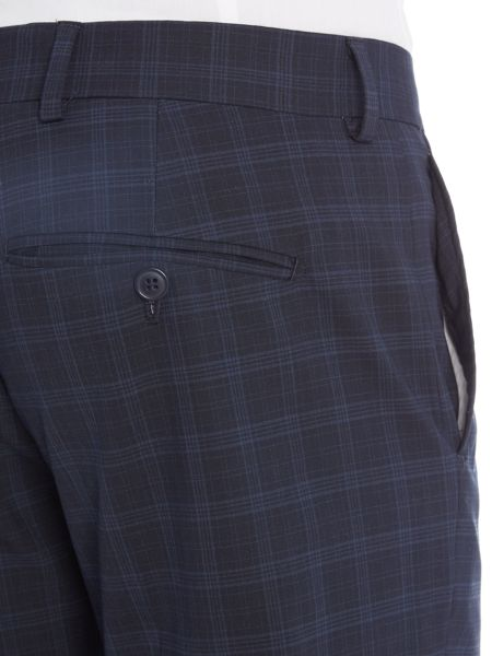 Selected Homme Trey Navy Check Trousers